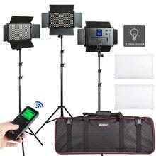 "VILTROX 2/3PCS VL S192T LED וידאו אור דו צבע Dimmable אלחוטי מרחוק פנל תאורה ערכת + 75 ""אור Stand עבור סטודיו ירי"