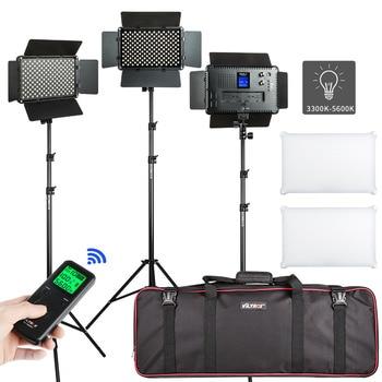 цена на VILTROX 2/3PCS VL-S192T LED Video Light Bi-color Dimmable Wireless remote Panel Lighting Kit +75