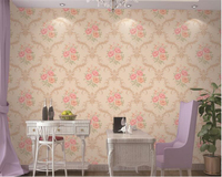 beibehang PVC 3d wallpaper American country garden big flower background wall living room bedroom beauty parlor wallpaper tapety