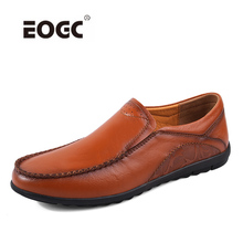 New Designer Genuine Leather Shoes Men Casual Driving Shoes Handmade Loafers Moccasins Comfort Men Flats Shoes Dropshipping недорого
