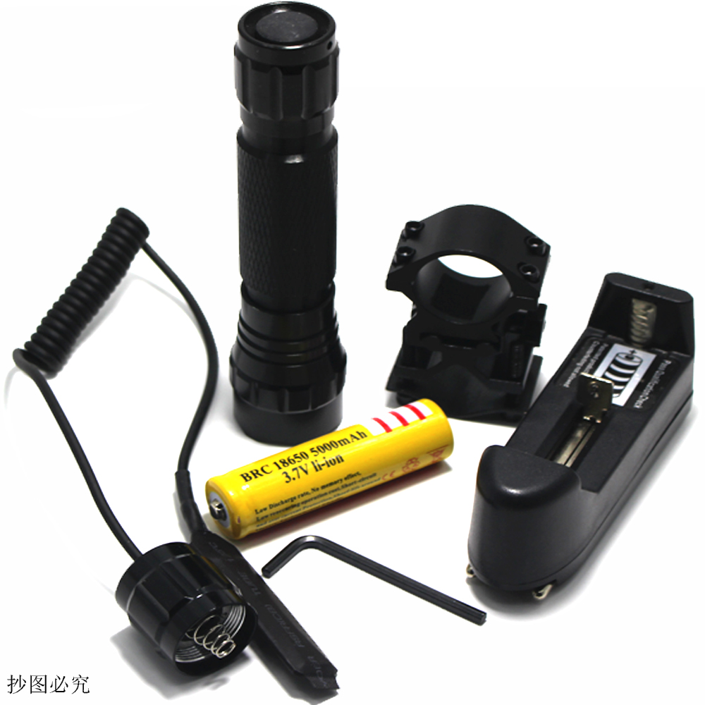 LED Flashlight Hunting Torch Waterproof  CREE LB-XL T6 2000 Lumens LED Flash Light With Gun Clip Remote Pressure Switch 18650 cree q5 led pocket flashlight 120lm ipx 6 waterproof torch