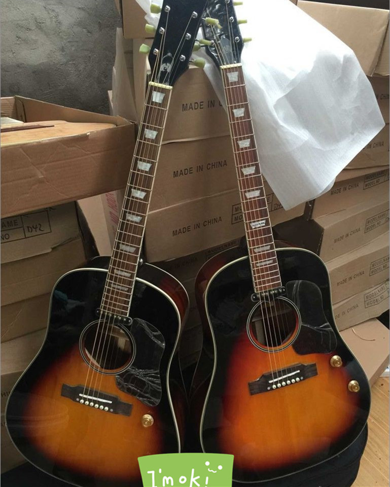 buy 2018 new factory chibson g160e vs acoustic guitar sunburst john lennon. Black Bedroom Furniture Sets. Home Design Ideas