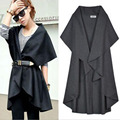 Plus Size Women's Cloak Solid Color Cape Irregular Vest Coat Autumn Winter Clothes for Women Woolen Coats Multi Way Wear