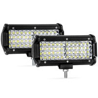 6.5'' 144W LED 14400lm Quad Row 48 Led Pods Work Light Bar Spot Beam LED Cubes for Truck Boat Motorcycle Jeep Waterproof