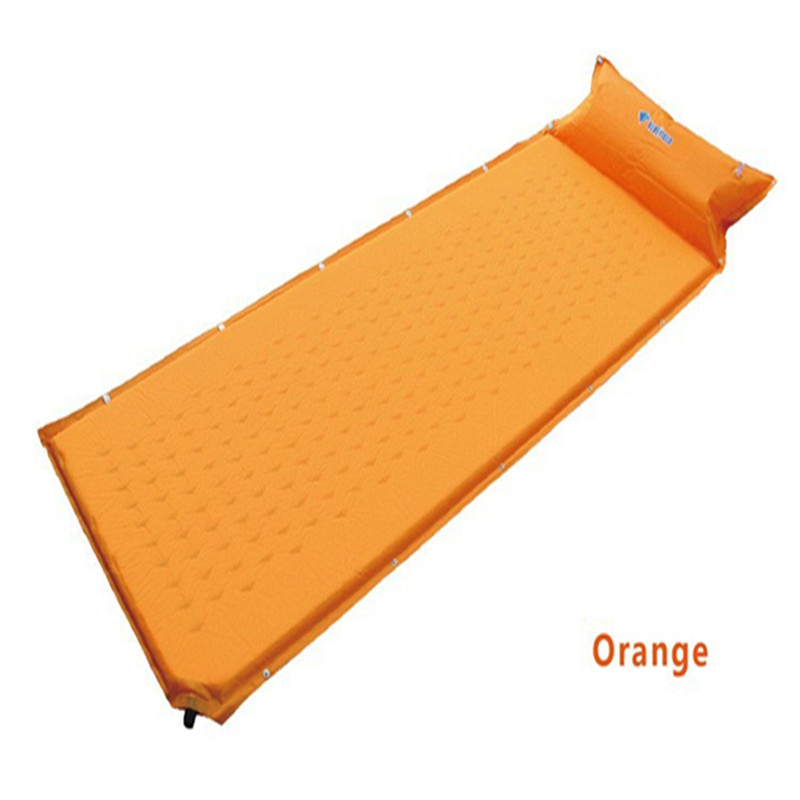 185x60cm Dampproof Camping Automatic Inflatable <font><b>Air</b></font> Pad Mattress Sleeping Bag Automatic Inflatable Sleeping Pad Hight Quality
