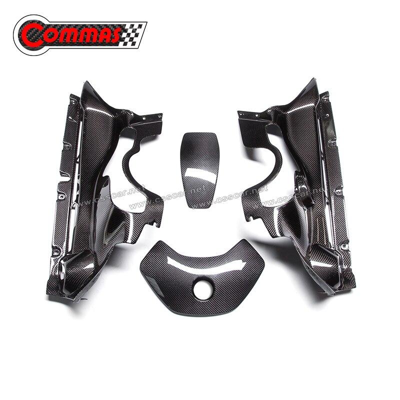 COMMAS Carbon Fiber Engine Interior Trims For 560S Car Interior Modification Accessories