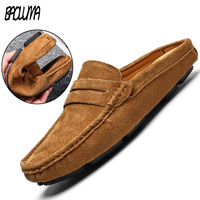 2019 Brand Fashion Summer Style Soft Moccasins Men High Quality Genuine Leather Shoes Men Flats Gommino Driving Shoes