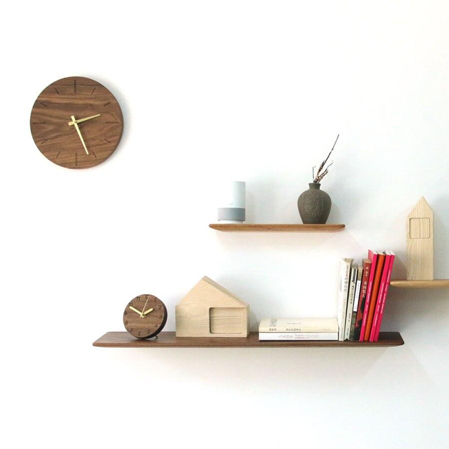 Horloge de bureau électronique Style japonais horloge Simple Design créatif muet horloge de bureau décorative horloge en bois massif 50Y031 - 6