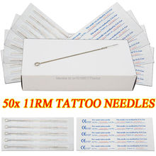 50PCS Tattoo Needles 11RM Disposable Premade Sterilized Tattoo Needles Round Magnum Curved For Tattoo Guns Supply