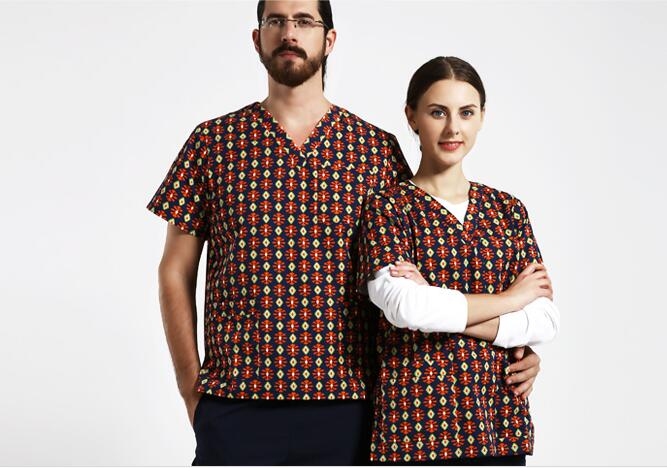 New Arrival!Pet Hospital Clinic Woman Men Doctor Medical Scrub Sets Nurse Wash Clothes Short Sleeve Isolation Gown,j83