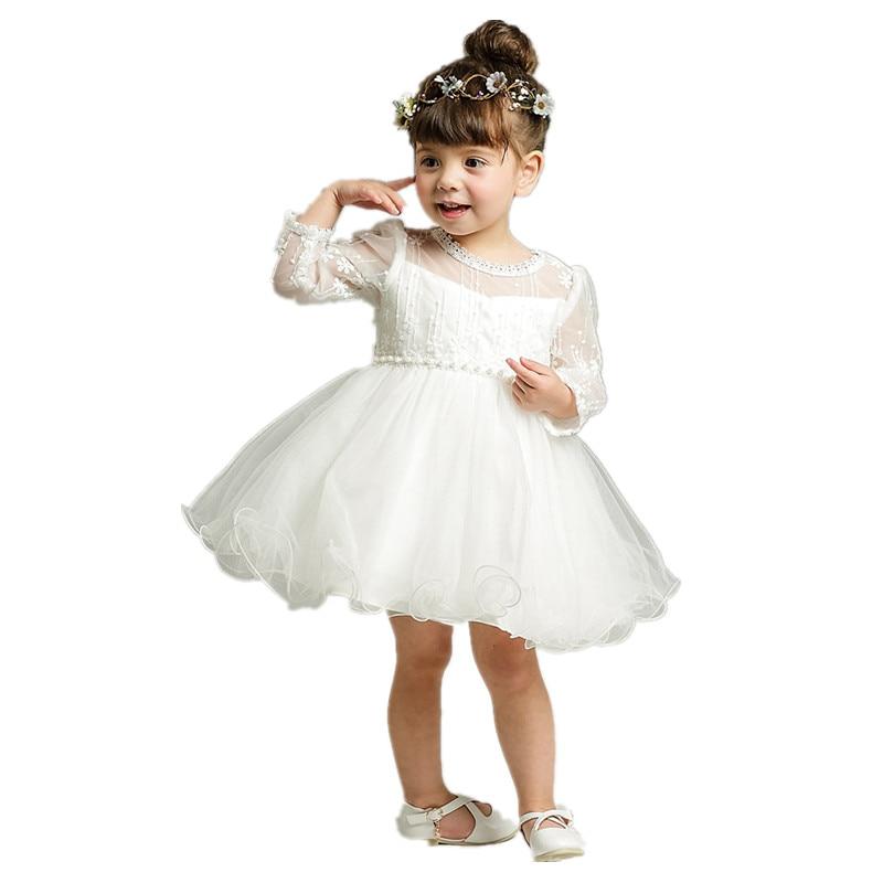 BBWOWLIN Nyfödd Baby Girl Winter Kläder Jul Långärmad Klänning - Babykläder