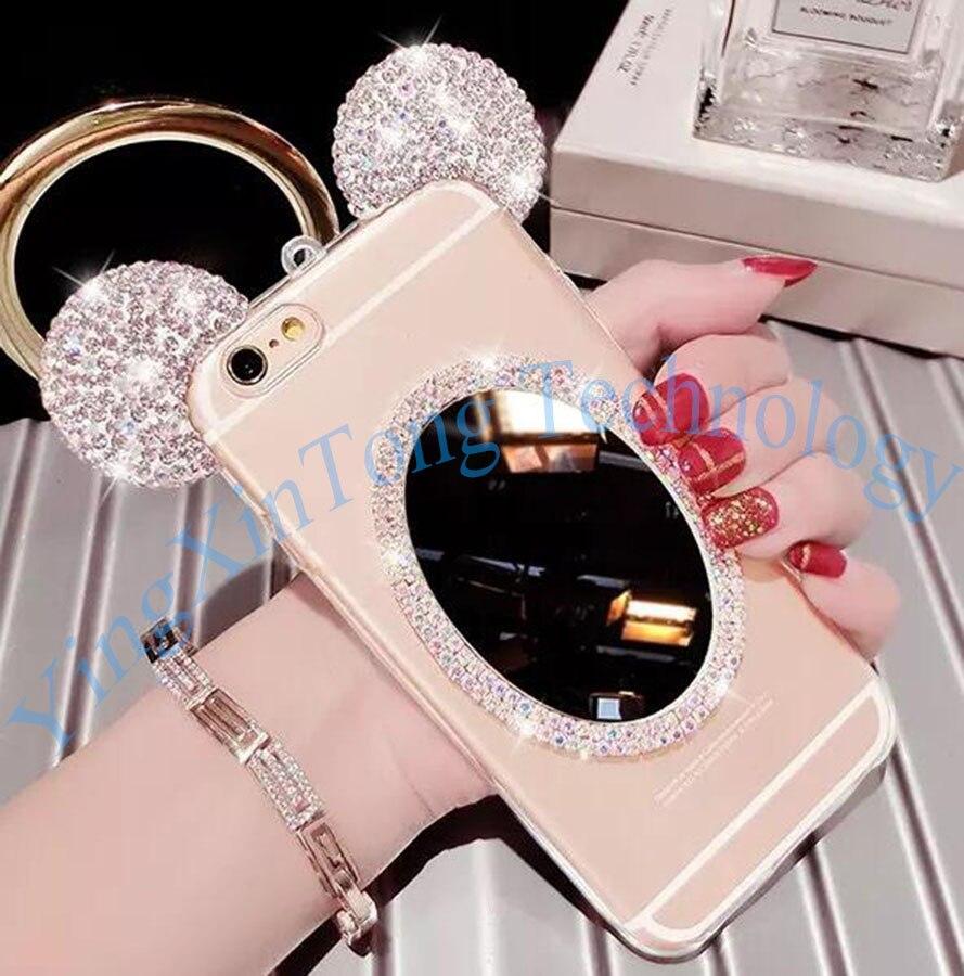 HTB1PTu3QXXXXXXfXFXXq6xXFXXX1 - Luxury Crystal Mirror Glitter Rhinestone Mickey Ears Phone Cases PTC 179