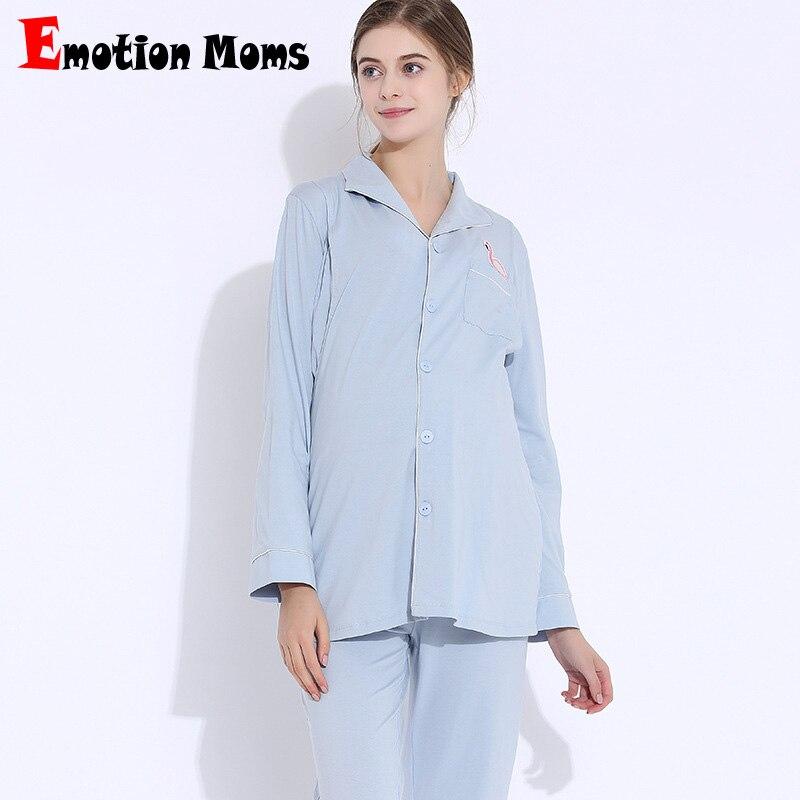 Эмоции мамы для беременных пижамы Наборы для ухода за кожей Беременность пижамы Уход одежда грудное вскармливание пижамы костюм для береме...