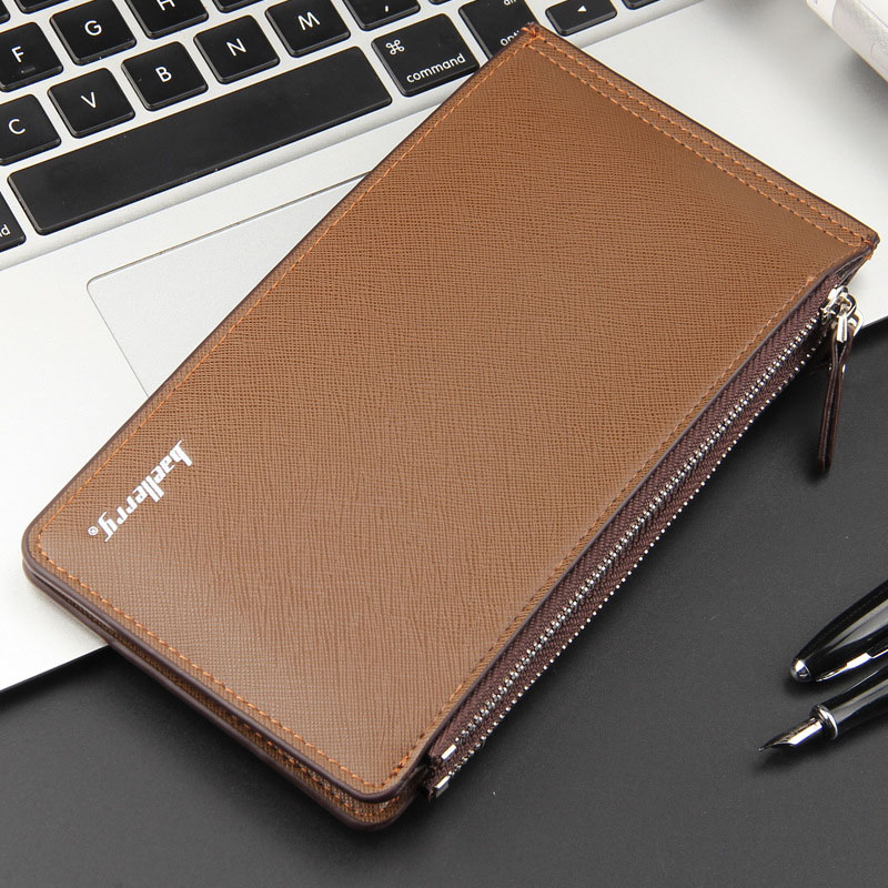 New Wallet Men Purse Mens Wallet Zipper Long Wallet Mens Coin Clutch Purses High Quality Multi-card bit Purse Male Card Holder