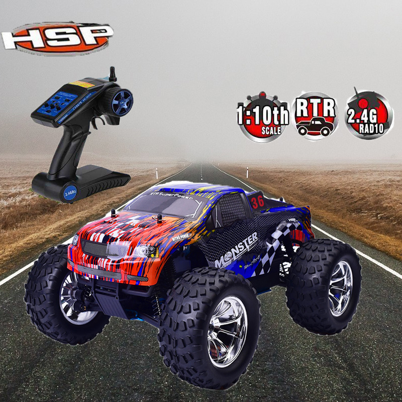 Hsp Rc Truck Nitro Gas Power Off Road Monster Truck 94188: Premium HSP 94188 RC Racing Truck 1:10 Scale Models Nitro