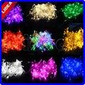10 M 100 LED 9 Colores de La Boda de Navidad Año Nuevo Navidad Cable de La Decoración guirnalda de Navidad LED Hadas Luz de la Secuencia Al Aire Libre CN C-22
