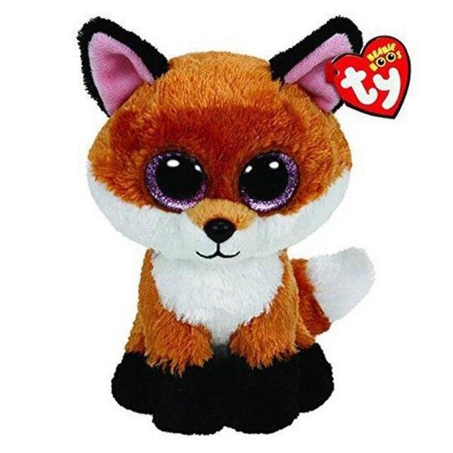 """Ty Vaias Gorro Stuffed & Plush Animais Raposas Brinquedo Boneca Com Tag 6 """"15 cm"""