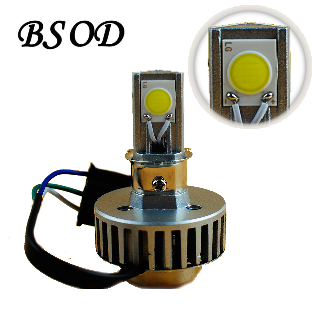 BSOD LED Motorcycle Car Headlamp Replacre H4 Bulb White 360 Degree 2000 lumens 3 pcs COB Light Source High Brightness