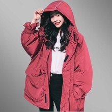 2018 New Winter Parkas Women Basic Padded Jackets Plus Size Hooded Thicken Cotton Loose Fashion Fit Coat jaqueta feminina PJ317