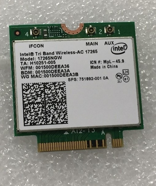 SSEA New For Intel Tri-Band Wireless-AC 17265 802.11ad 802.11agn/