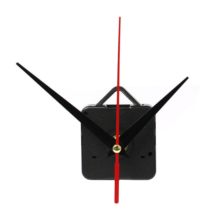 DIY Clock Mechanism Classic Hanging Black Quartz Watch Wall Clock Movement Mechanism Parts Repair Replacement Essential Tools