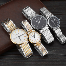 2016 New Brand Couple Quartz Watch Lover Watches Women Men Dress Watch Stainless Steel Wristwatches Waterproof Female Male Clock