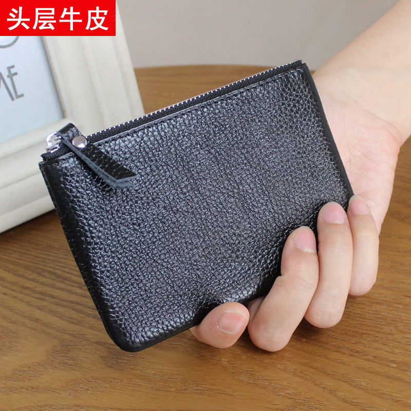 Real Leather Wallet Female Zipper Small Wallet for Girls Coin Holder Ladies Purse for Coins Fashion Women Mini Money Bag