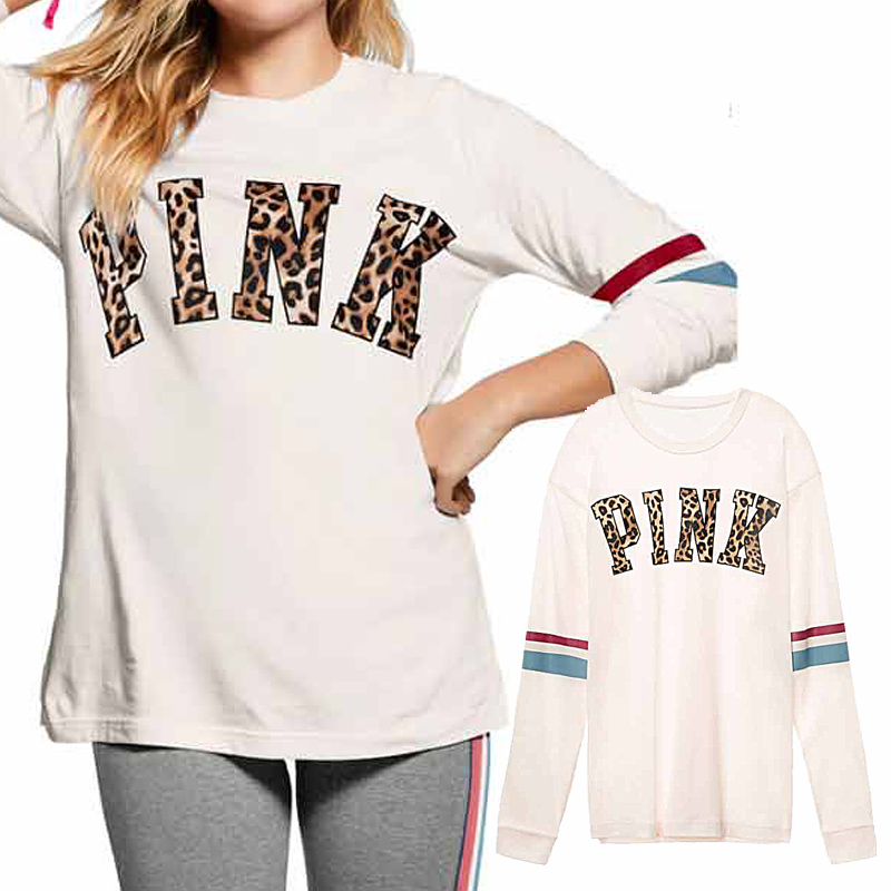 VS Love Pink Women Long Sleeve Tshirt Vegan Vintage Streetwear Bt21 Bts Friends Punk Harajuk Top White Tee Shirt Femme Plus Size