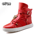 Discount men high-top rivets sport casual shoes cool guys hip hop shoes hook&loop ankle boots riding boots size 39-44