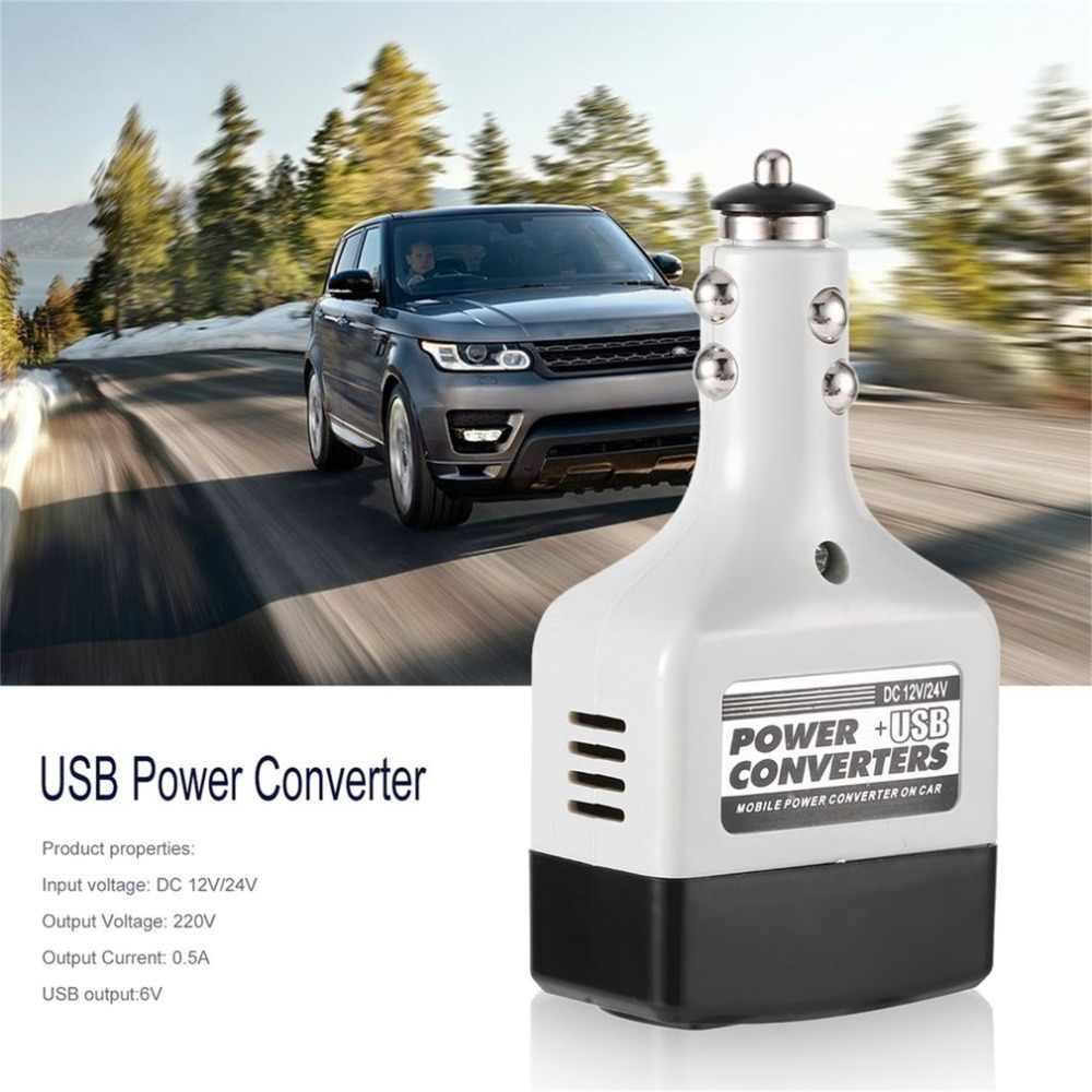 DC 12/24 V a CA 220 V/USB 6 V adaptador de corriente del coche cargador de coche de la energía del coche móvil convertidor con interfaz USB
