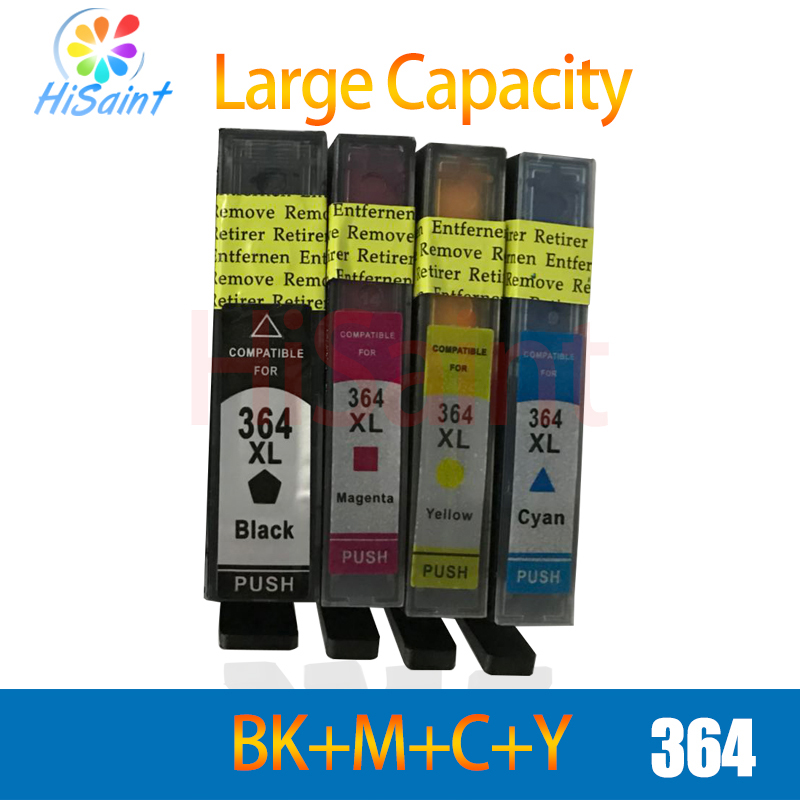 Hisaint 364XL Ink Cartridge Replacement for <font><b>HP</b></font> <font><b>364</b></font> xl cartridges for Deskjet 3070A 5510 6510 B209a C510a C309a Printer image