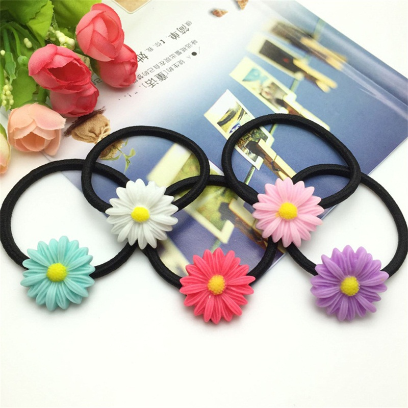 1PCS Resin Sunflower Hair Ring Headwear Hair Band BB Hair Ornaments Best DIY Gift For Kids