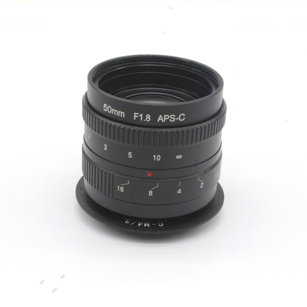 ФОТО 50mm f1.8 C mount CCTV Lens APS-C sensor camera lenses with C-M4/3 adapter ring For Olympus PEN E-PL5,E-PM3,E-PM2,E-P3,