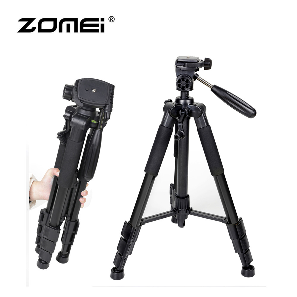 Zomei Q111 Professional Aluminum Folding Portable Travel Tripod with 3-way Pan Head Bag for SLR DSLR Camera Black zomei professional aluminum alloy slr three camera folding portable tripod with ball head bag travel for dslr black q111