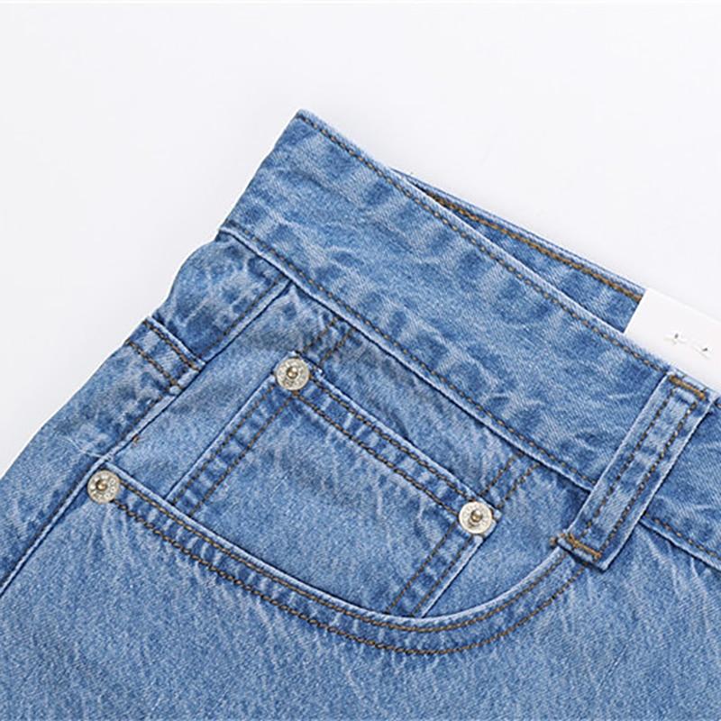 2018 Baru 100% Katun Musim Panas Tipis Keren Pria Jeans Baggy Biru - Pakaian Pria - Foto 3
