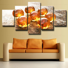 Canvas Painting Poster Wall Art Framework 5 Panel Beautiful Bead Dragon Ball Modular Pictures For Living Kids Room Decor