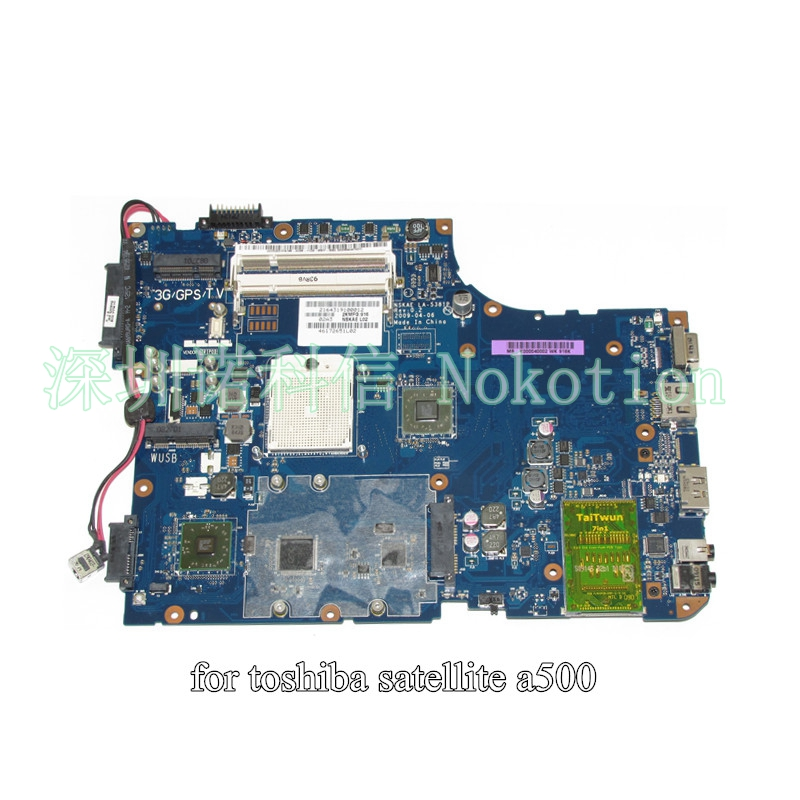 K000040002 NSKAE LA-5381P for toshiba satellite A500 laptop motherboard DDR2 k000057370 iskaa la 3481p for toshiba satellite a200 a205 laptop motherboard pm965 ddr2 free shipping 100
