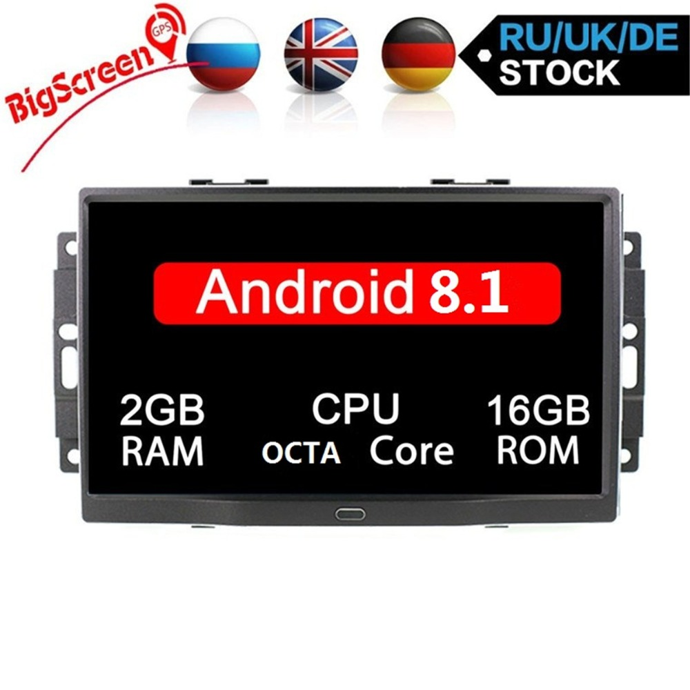 Vehicle Stereo Gps Navigation For Chrysler 300c Jeep Dodge: Octa Core Android 8.1 Car GPS Navigation For Chrysler 300C