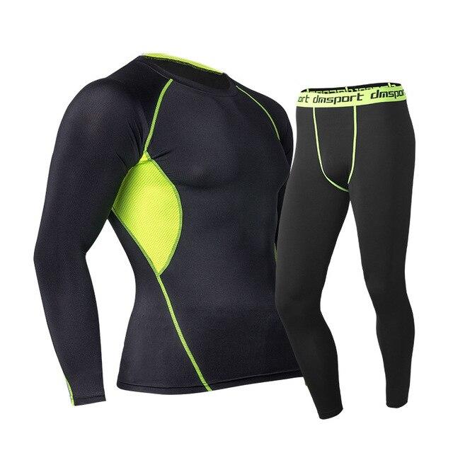 2018 новые комплекты термобелья термо кальсоны Для мужчин s теплый зимний сжатия быстросохнущая брюки Костюмы для Для мужчин чехол леггинсы