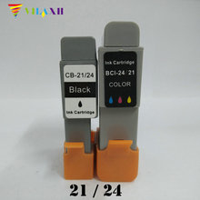 2PK BCI-21 BCI-24  Ink Cartridge  for Canon BCI21 BCI24  For Canon Bjc 2000 2100 2115 2120 400 410 400j 4000 pritner canon bci 6r red для bjc 8200 photo bj s 800 s 900 i950 i9100