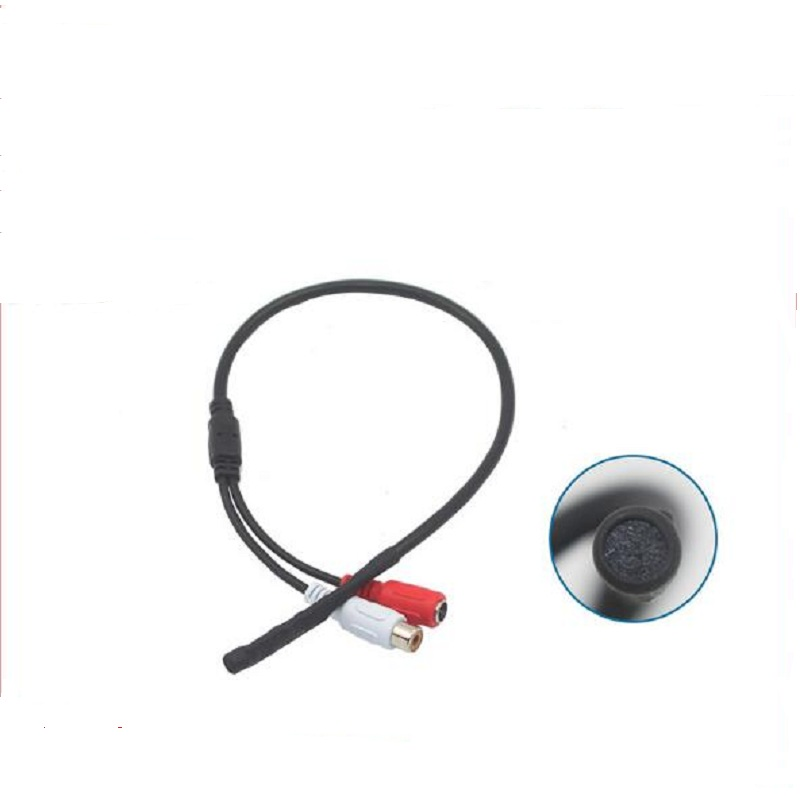 Mini CCTV Microphone Surveillance Wide Range Sound Pickup Audio Monitor For Security Camera cctv microphone dc6 12v power wide range mic audio microphone cctv clear sound audio pick up device microphone for camera