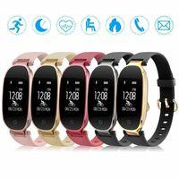 Frauen Fitness Activity Tracker Smart Watch für iOS Bluetooth Herzfrequenz Sport