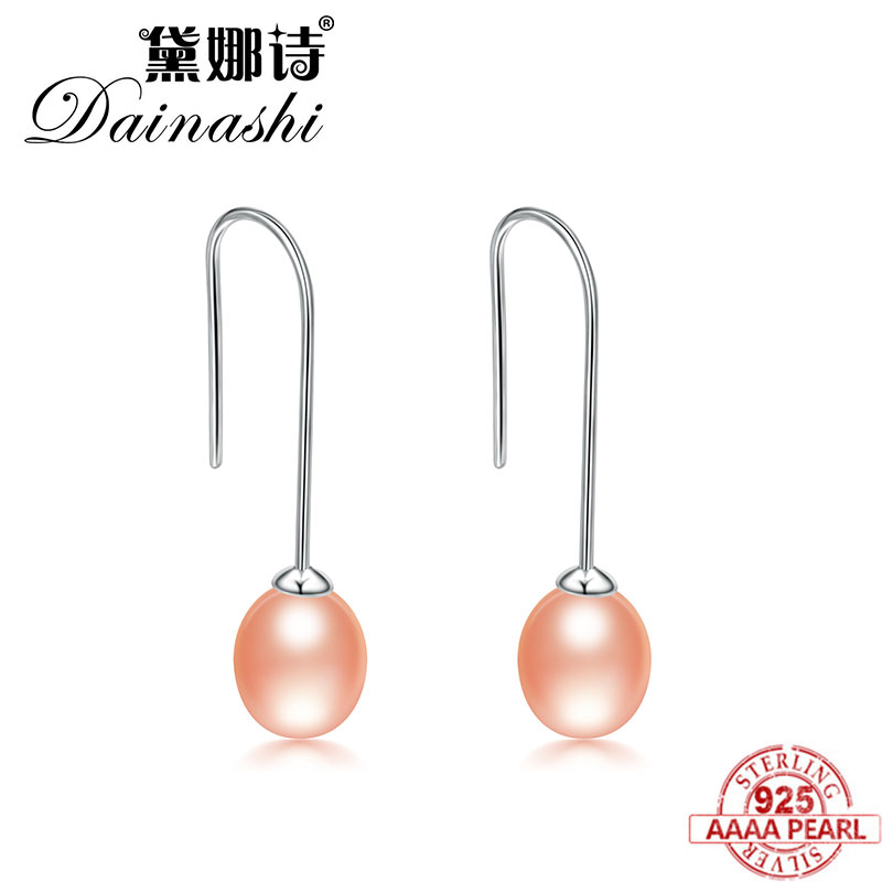 Dainashi 2017 new arrival 925 Sterling silver natural freshwater pearl drop earrings fine jewelry for women silver jewelryDainashi 2017 new arrival 925 Sterling silver natural freshwater pearl drop earrings fine jewelry for women silver jewelry