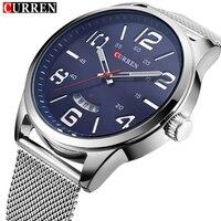 Curren Watches Men Top Brand Luxury Quartz Watches Sport Men S Watch Stainless Steel Mesh Band