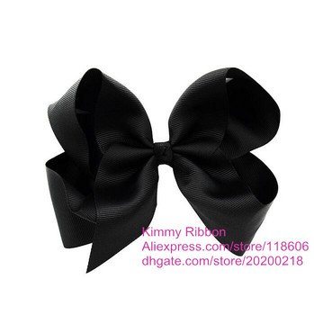 Free Shipping Wholesale 100pcs Black Twisted Boutique Hair Bow, Orange Bow, Halloween Hair Bow