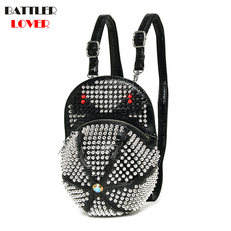 Diamante Hat Bag School Backpack Mochila School Bags Luxury Backpack Women Mochilas Feminina Chain Clutch Student