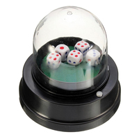 Hot Automatic Dice Roller Cup Battery Powered Pub Bar Party Game Play With 5 Dices Black