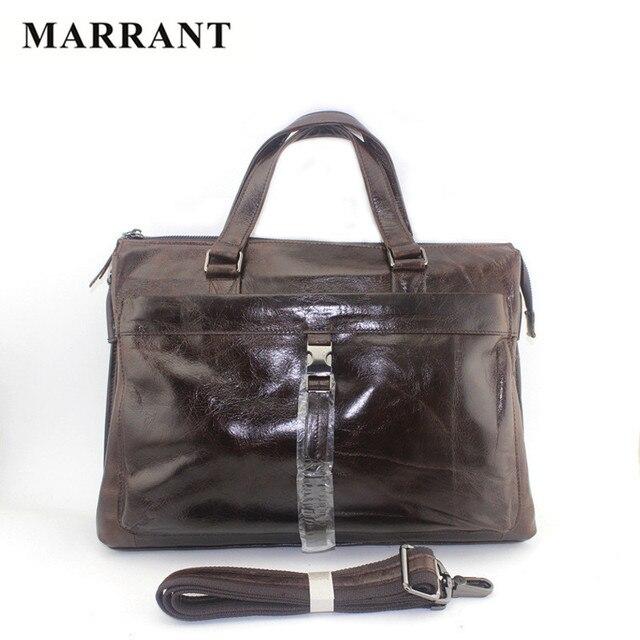 MARRANT 100% Genuine Leather Man Messenger Bags Real Leather Men Handbag Business Briefcase Laptop Bag Casual Men's Travel Bags