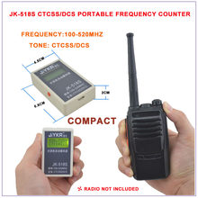 Nova Chegada JK-518S Frequência Portátil, 2 em 1 Contador De Freqüência CTCSS & DCS 100-520 MHz, CTCSS/DCS Medidor de Freqüência