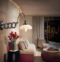 Регулируемые петли кронштейн настенный светильник угол поворота Америка винтажном стиле Фойе бра Освещение украшения стены